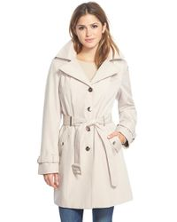 Calvin Klein | White Single Breasted Belted Trench Coat | Lyst