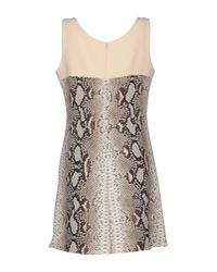 Carven - Multicolor Snake-print Crepe Mini Dress - Lyst
