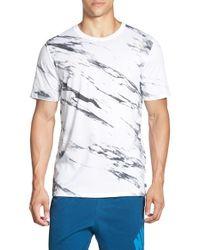Nike Gray Sb 'written In Stone' Print Dri-fit Crewneck T-shirt for men