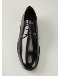 Tod's - Black Classic Derby Shoes for Men - Lyst