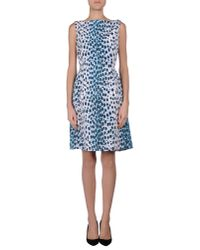 Dior - Blue Short Dress - Lyst