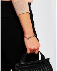 Ted Baker | Pink Sirene Sleek Bow Cuff Bracelet | Lyst