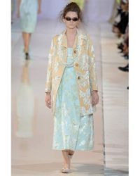 Rochas | Blue Floral Embroidered Duchesse Nigel Dress | Lyst