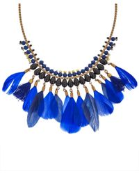Isabel Marant | Blue Kayapo Feather Necklace | Lyst