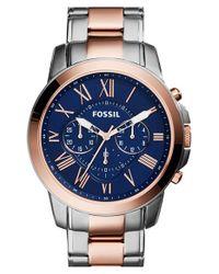 Fossil Blue 'grant' Chronograph Bracelet Watch for men