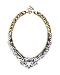 BaubleBar | Metallic 'trillion' Crystal Collar Necklace - Clear/ Antique Gold | Lyst