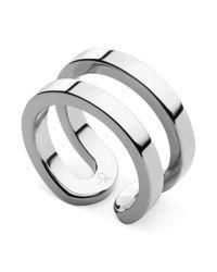 Calvin Klein | Metallic Silver-tone Open Ring | Lyst