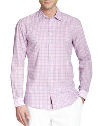 Façonnable Pink Plaid Sportshirt for men