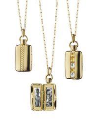 Monica Rich Kosann | Metallic 18k Gold Crystal & Yellow Sapphire Locket Necklace | Lyst