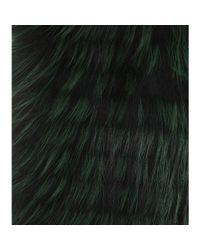 Burberry Black Fox Fur Scarf