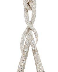 VBH Metallic White Gold Clip On Pendant Earrings
