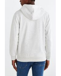 BDG | White Fleece Zip Hoodie Sweatshirt for Men | Lyst
