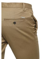 DSquared² - Natural Clement Fit Stretch Cotton Twill Pants for Men - Lyst