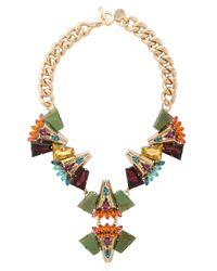 Anton Heunis | Metallic Crystal Cluster Necklace | Lyst