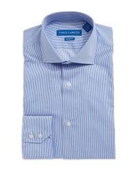 Vince Camuto | Blue Modern Fit Striped Dress Shirt for Men | Lyst