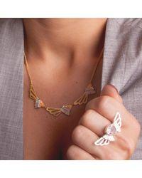 Anna Byers - Metallic Three Wing Necklace - Lyst