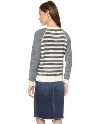 Mother Gray Slit Hem Square Sweatshirt - Making Waves