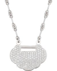 Qeelin | Metallic Yu Yi Full Pave Medium Necklace | Lyst