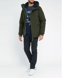 Homecore   Natural Khaki Shadow Sherpa/feather Lining Cotton Parka for Men   Lyst
