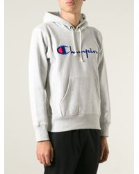 Champion Gray Logo Hoodie for men
