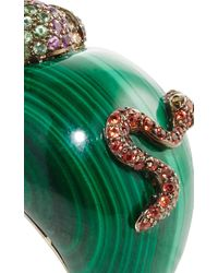 Wendy Yue | Green Malachite Snake And Apple Ring | Lyst
