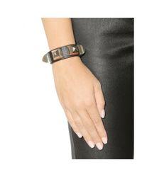 Givenchy Brown Studded Leather Bracelet