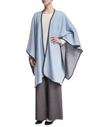 Eskandar | Blue Reversible Cashmere-blend Cape | Lyst