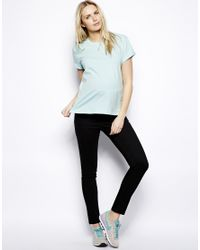 ASOS Exclusive Elgin Black Skinny Jeans With Over The Bump Waistband
