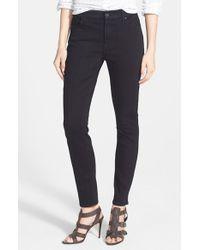 Jen7 | Black Stretch Skinny Jeans | Lyst