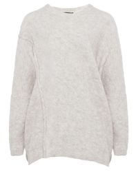 Oska | Natural Melina Boucle Wool Sweater | Lyst