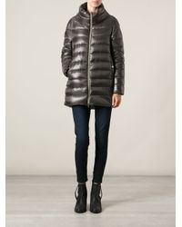 Herno   Gray Padded Coat   Lyst