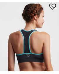 Live Love Dream | Gray Lld Perforated Strap Sports Bra | Lyst