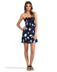 Juicy Couture Multicolor Floral Bandeau Mini Beach Dress