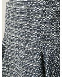Barbara Bui Blue Tweed Skirt