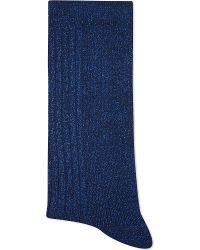 Alto Milano | Blue Short Glittery Socks | Lyst