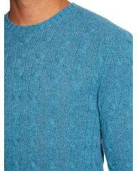Polo Ralph Lauren - Green Cable-knit Cashmere Sweater for Men - Lyst