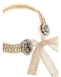 Erickson Beamon | Metallic 'stratosphere' Pearl Crystal Collar Necklace | Lyst
