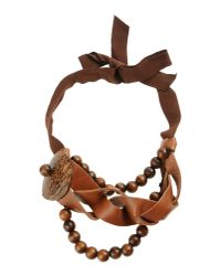 Philosophy di Alberta Ferretti - Brown Necklace - Lyst