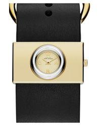 Marc Jacobs Black 'viv' Leather Strap Watch