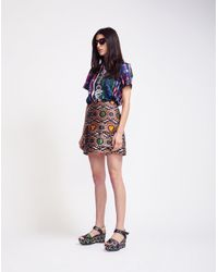 Cynthia Rowley - Multicolor Print Bonded T-shirt - Lyst