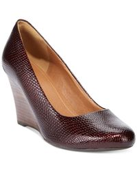 Clarks | Purple Artisan Women'S Purity Crystal Wedges | Lyst