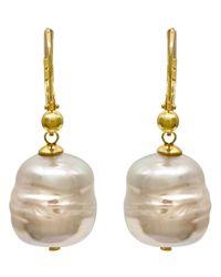 Majorica | Metallic Organic Man-made Baroque Pearl Drop | Lyst