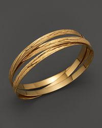 Roberto Coin | Metallic 18k Yellow Gold Plated Sterling Silver Small Bangle | Lyst
