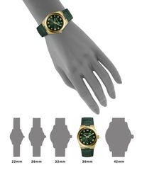 Michael Kors - Green Channing Goldtone Stainless Steel Crocodileembossed Leather Strap Watch - Lyst