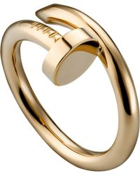 Cartier | Metallic Juste Un Clou 18ct Pink-gold Ring | Lyst