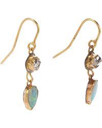 Judy Geib - Green Women's Herkimer Diamond & Opal Double-drop Earrings - Lyst