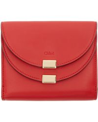 Chloé Red Lambskin Georgia Wallet