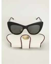 Stella McCartney - Black Cat Eye Sunglasses - Lyst