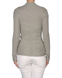 See By Chloé - Gray Double-Breasted V-Neck Cardigan - Lyst