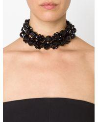 Simone Rocha | Black Crystal Necklace | Lyst